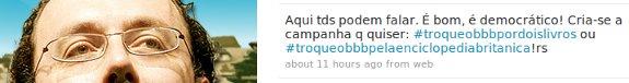 Carlos Bezerra Jr - Twitter - Campanha contra o BBB