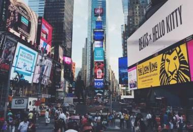 Times Square, muitas pessoas