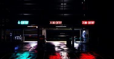 Estacionamento com uma entrada