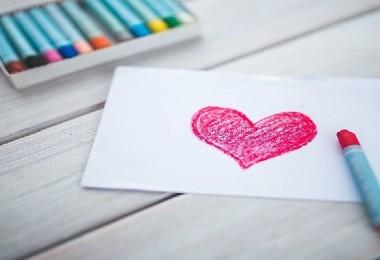 Coração desenhado