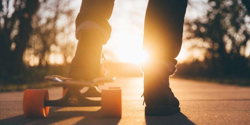 Longboard contra o sol