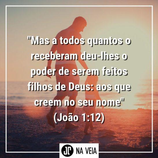 Versículos filhos de Deus - João 1:12