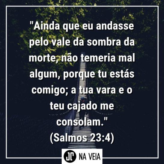 Versículos sobre medo - Salmos 23:4