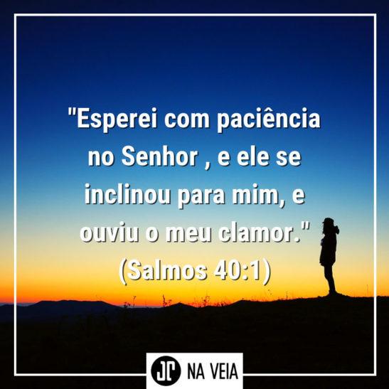 Versículo sobre paciência de Salmos 40:1