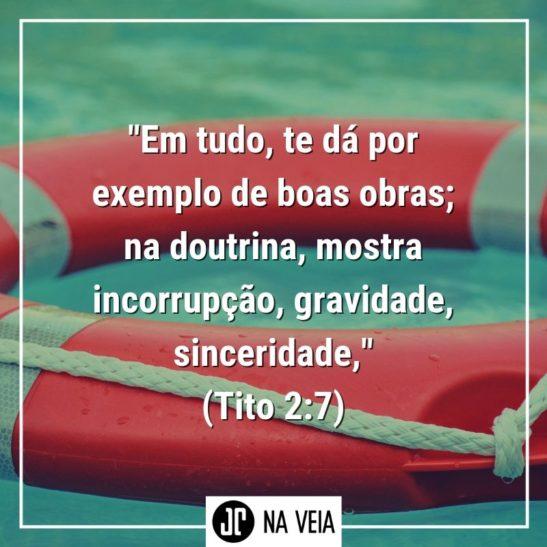 Versículos sobre boas obras - Tito 2:7