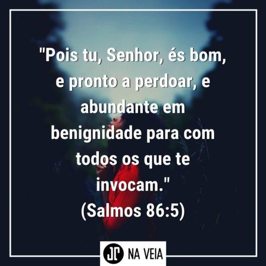 Versículos sobre perdão - Salmos 86:5