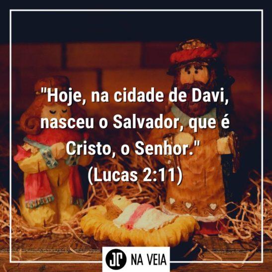 Imagem de versículos para o Natal com o texto de Lucas 2:11