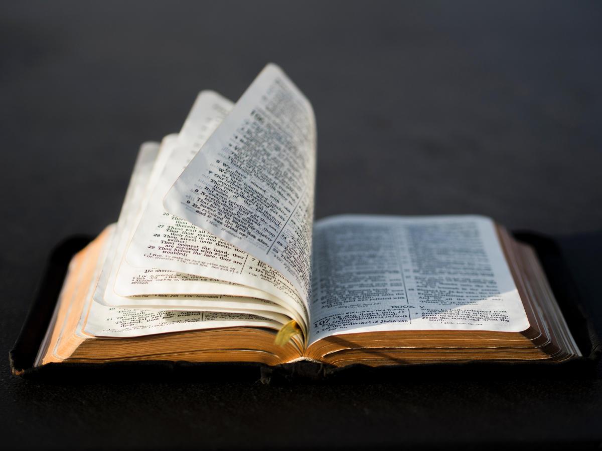 Bíblia com a página sendo virada - Profecias sobre Cristo na Bíblia